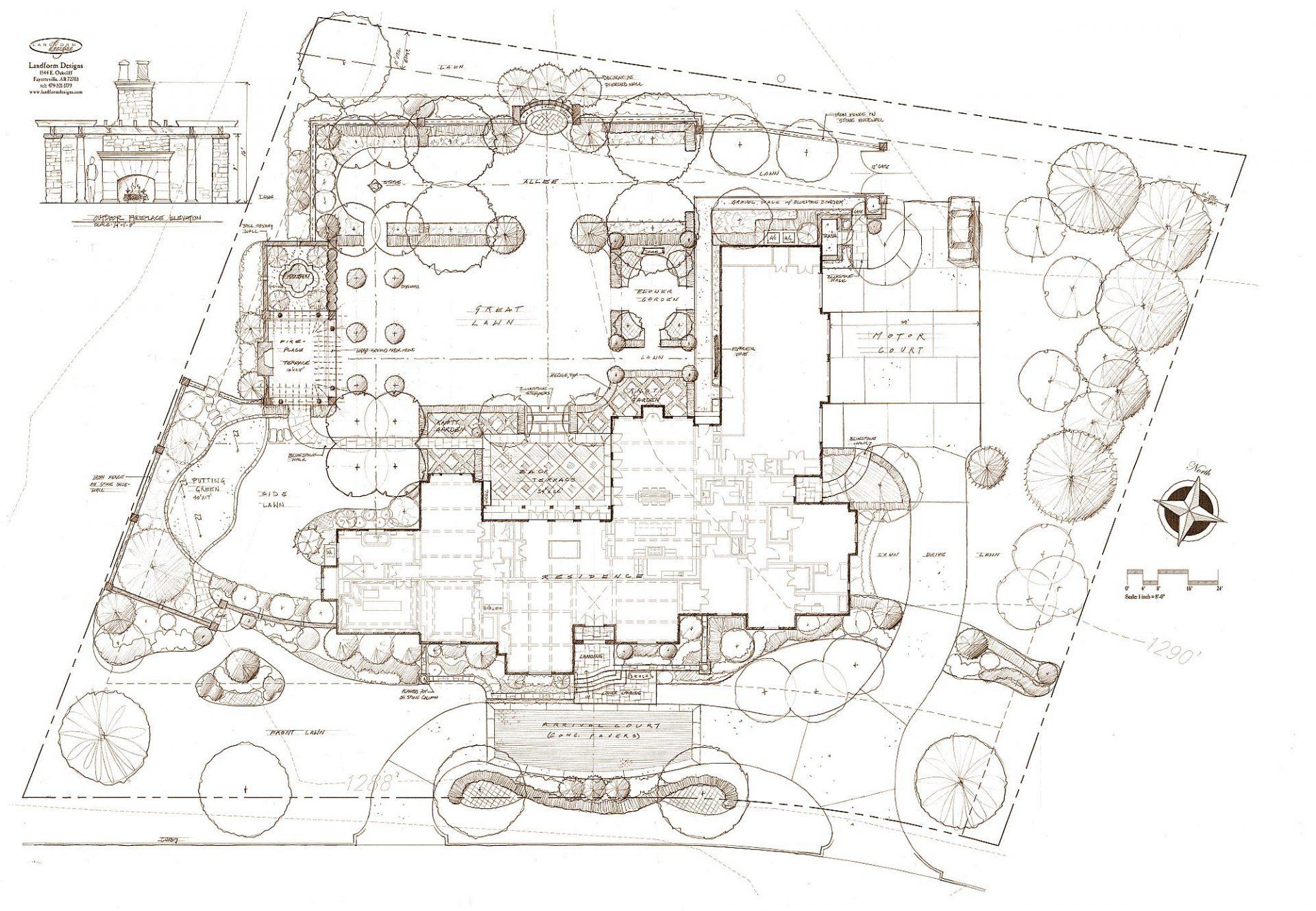 Masterplan pinnacle drive garden design arkansas missouri