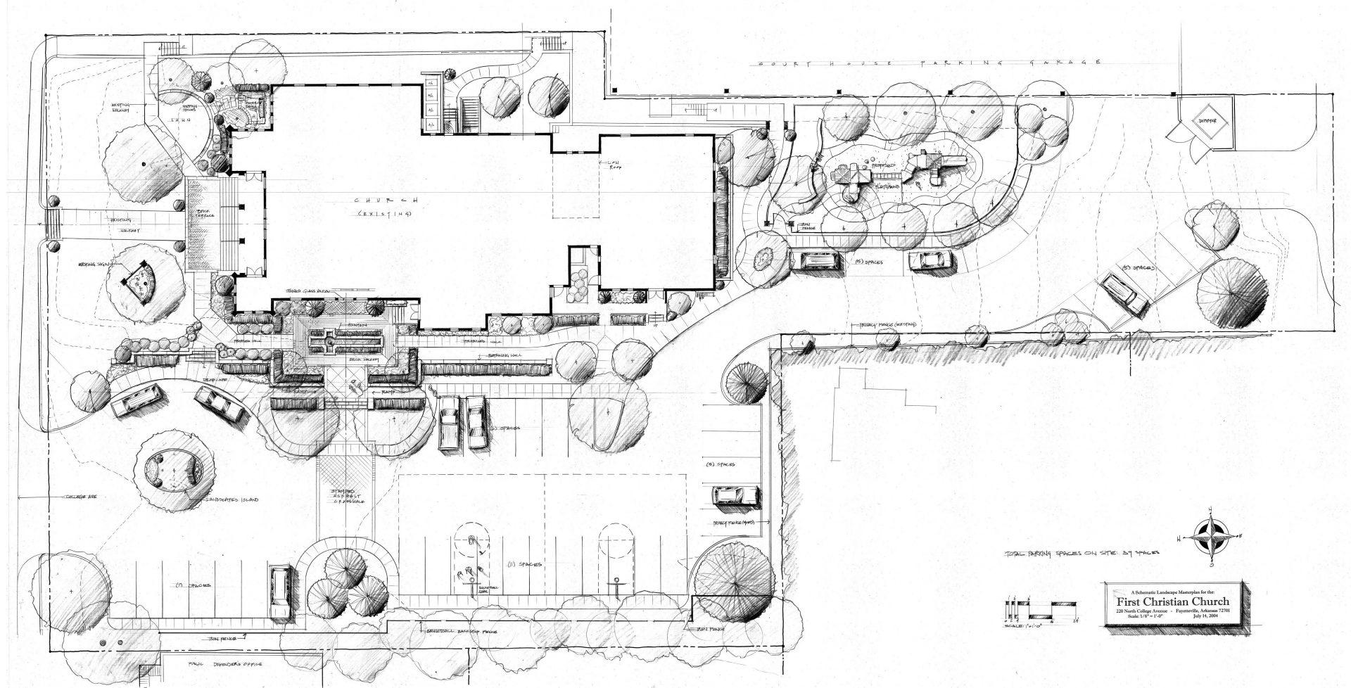 First christian masterplan landscape design
