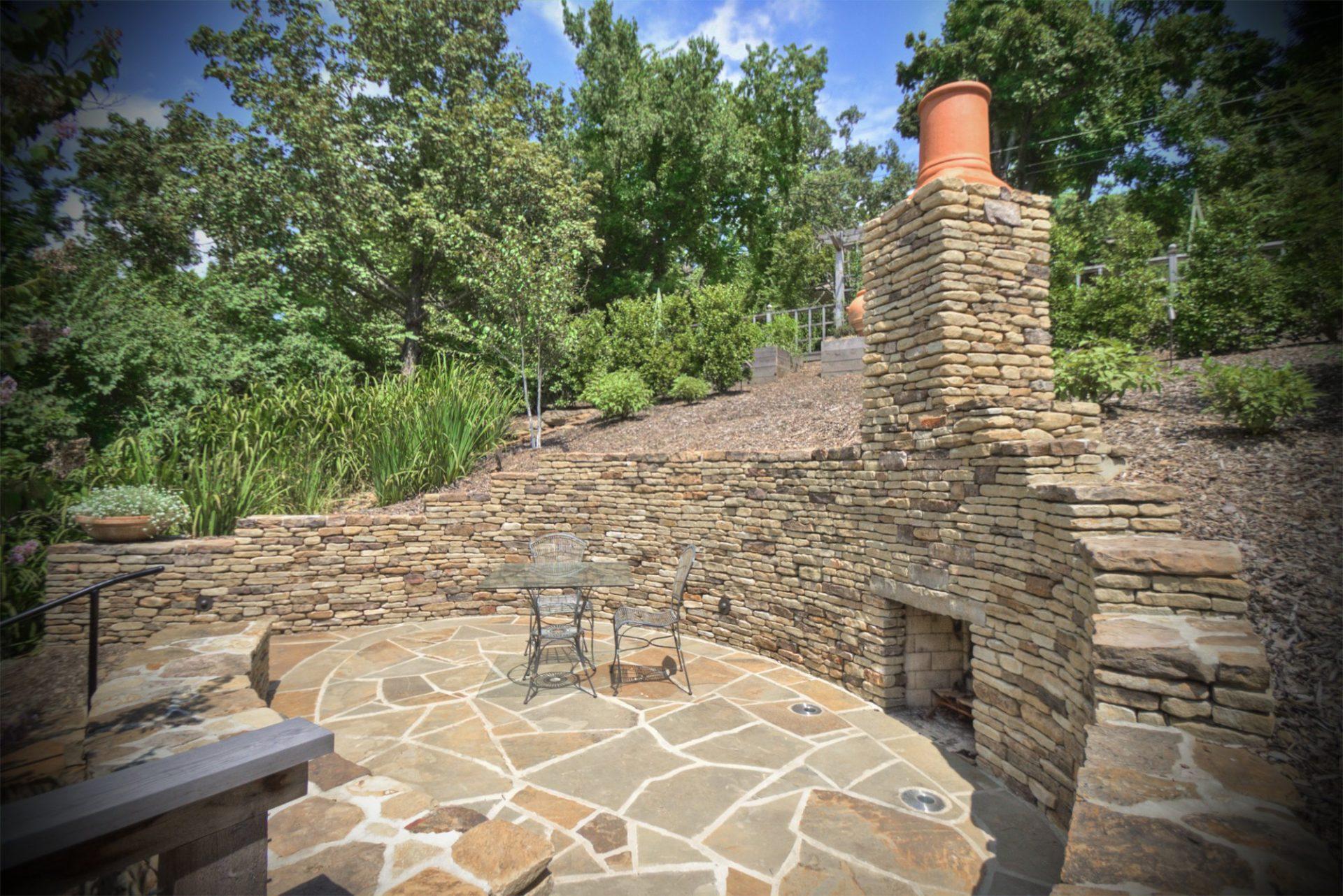 fire ring garden design residential