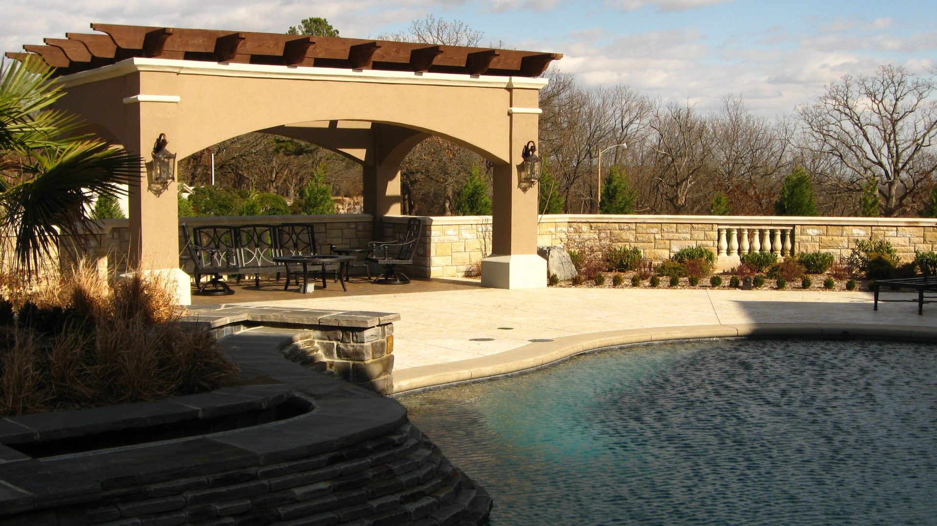 Cliff drive pool landscape design residential