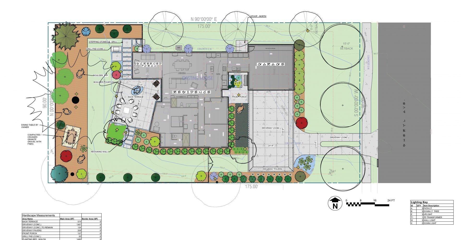 Sheryl masterplan landscape design residential