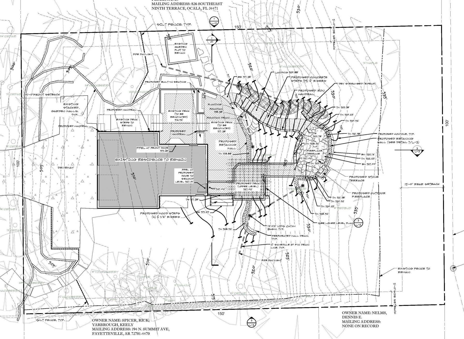 Summit inked masterplan garden design residential