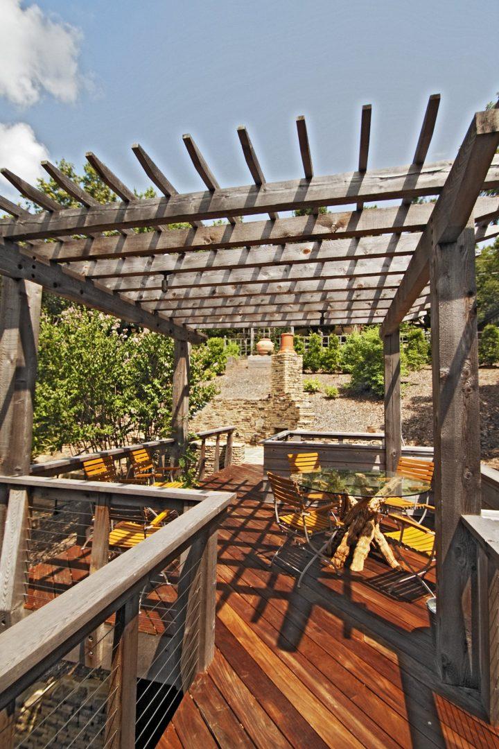Patio deck garden design residential