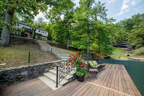 falls lane waterside garden design architecture